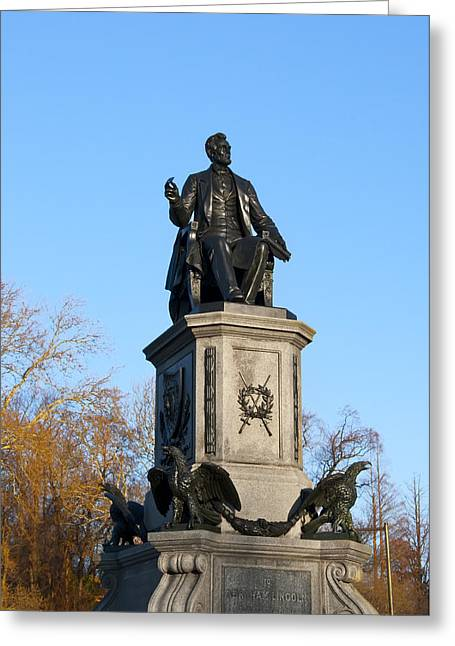 Abraham Lincoln Statue Philadelphia Greeting Card