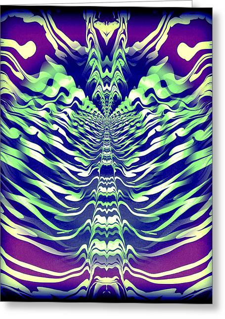 Abstract 140 Greeting Card by J D Owen