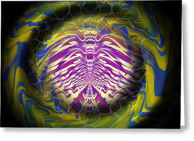 Abstract 141 Greeting Card by J D Owen