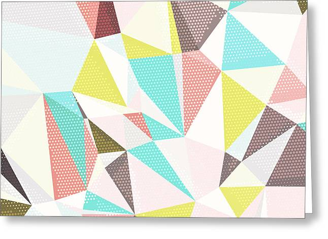 Abstract Background With Triangles And Greeting Card by Romas photo