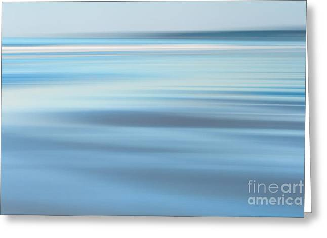 Abstract Blue Beach  Greeting Card by Katherine Gendreau