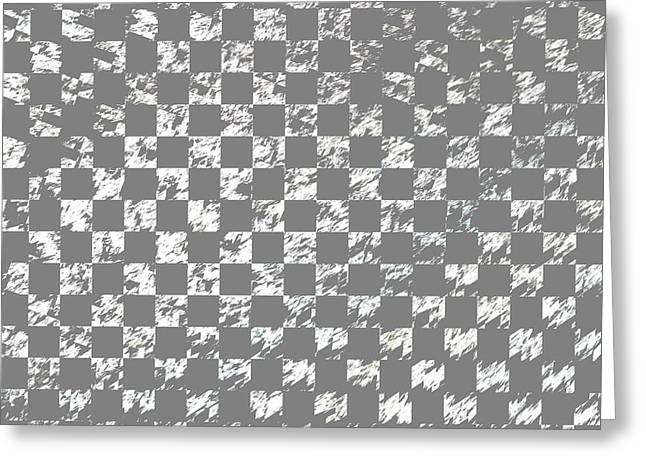 Abstract Checkered Pattern Fractal Flame Greeting Card by Keith Webber Jr