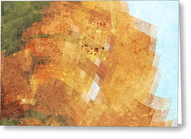 Abstract Futuristic Art Background Greeting Card