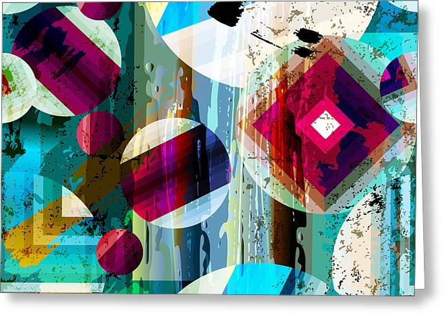 Abstract Geometric Pattern Background Greeting Card