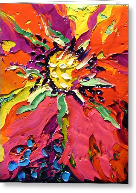 Abstract Greeting Card by Isabelle Gervais