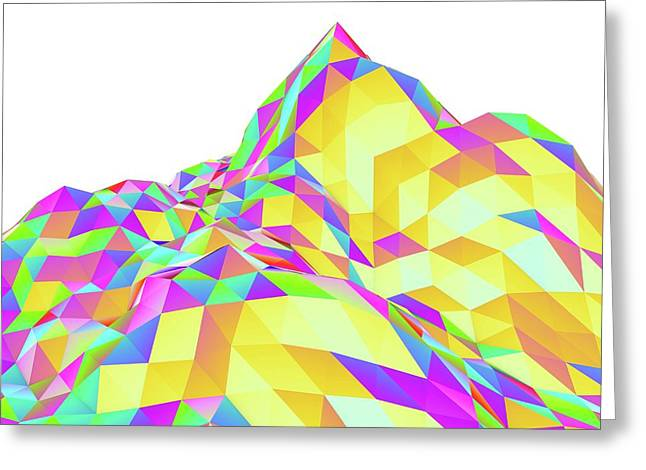 Abstract Landscape Of Polygons Greeting Card by Pasieka
