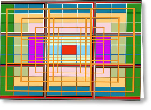 Ticket Window Barrier Fence Lines Festival Exhibition Type Decorations Modern Art Digitalart Gr Greeting Card