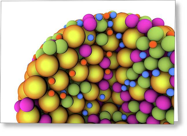Abstract Molecule Greeting Card