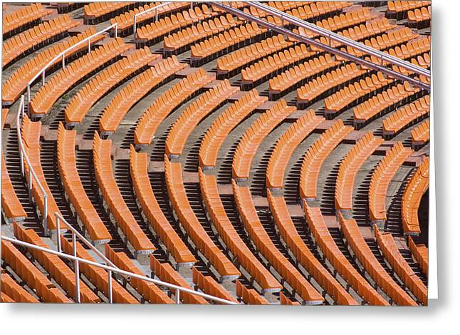 Abstract Pattern - Rows Of The Stadium's Seats Greeting Card