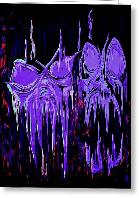 Abstraction Of Malicious Intent Greeting Card by Steve Hartwell