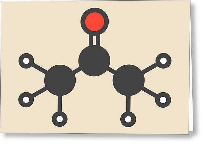 Acetone Solvent Molecule Greeting Card