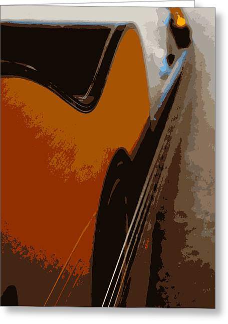 Acoustic Guitar  Greeting Card by Laurie Pike