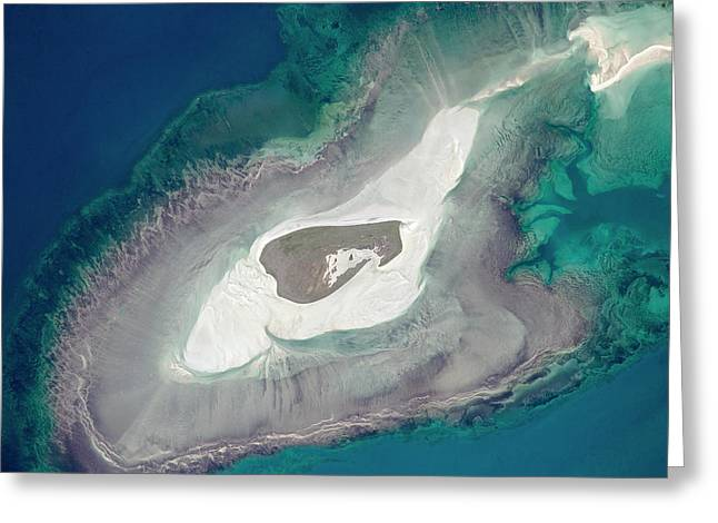 Adele Island Greeting Card by Nasa