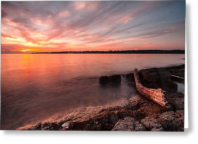 Adriatic Sunset II Greeting Card by Davorin Mance