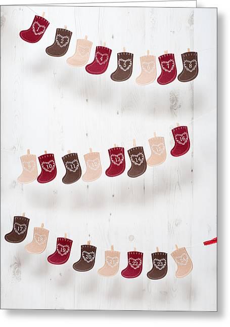 Advent Calendar Greeting Card by Amanda Elwell
