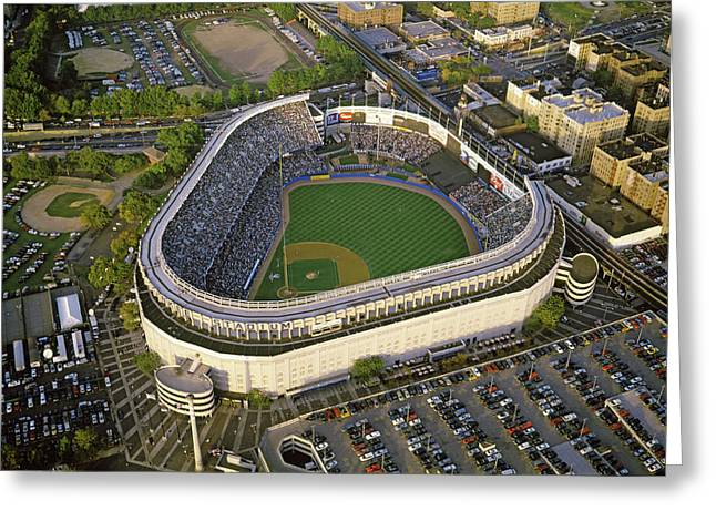 Aerial View Of A Baseball Stadium Greeting Card