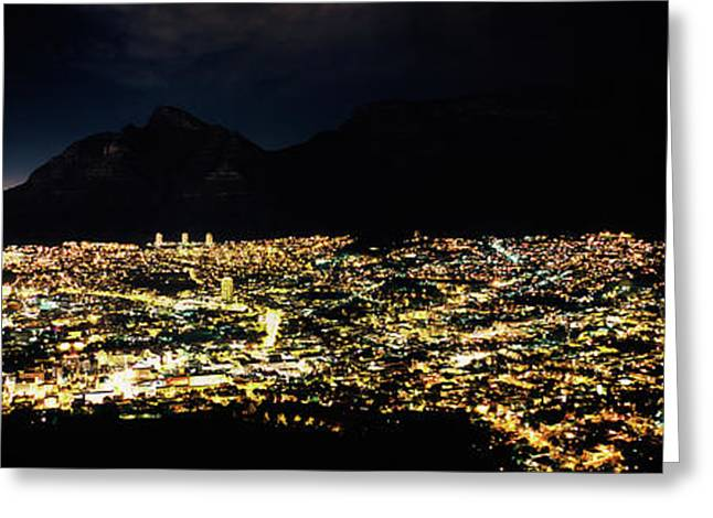 Aerial View Of A City From Signal Hill Greeting Card by Panoramic Images