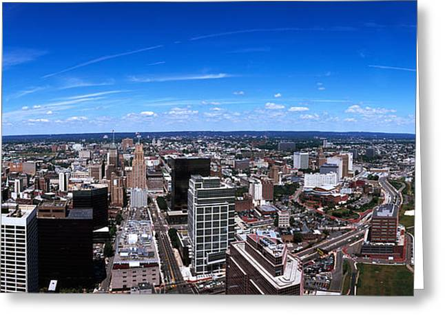 Aerial View Of A Cityscape, Newark Greeting Card