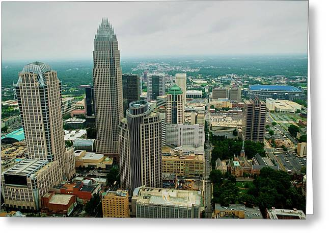 Aerial View Of Charlotte, Nc Greeting Card