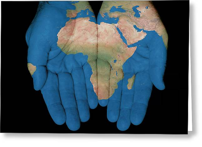 Africa In Our Hands Greeting Card