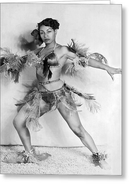 African American Woman Dancer Greeting Card