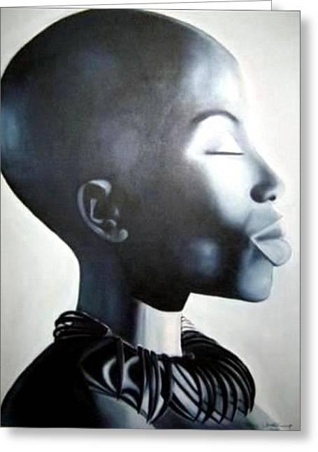 African Elegance - Original Artwork Greeting Card