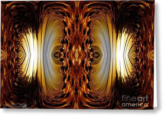 African Moon Abstract Greeting Card by J McCombie