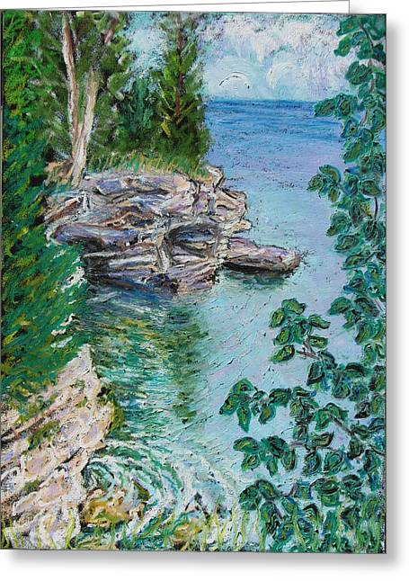 After The Rain Cave Point Greeting Card by Madonna Siles