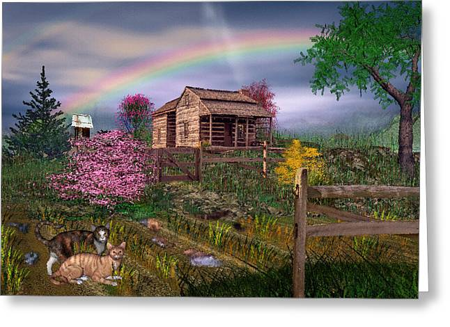 After The Storm Greeting Card by Mary Almond