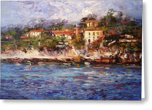 Afternoon Light In Cassis Greeting Card by R W Goetting