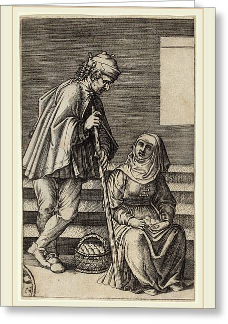 Agostino Dei Musi After Raphael Italian Greeting Card by Litz Collection