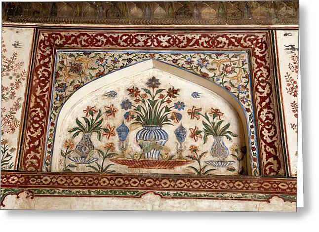 Agra, India Still-life Floral Painting Greeting Card