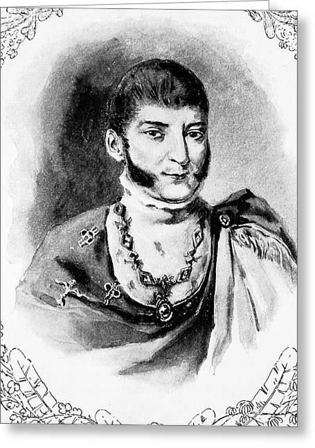 Agust�n De Iturbide (1783-1824) Greeting Card by Granger