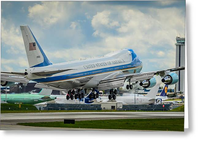 Air Force One Greeting Card by Puget  Exposure