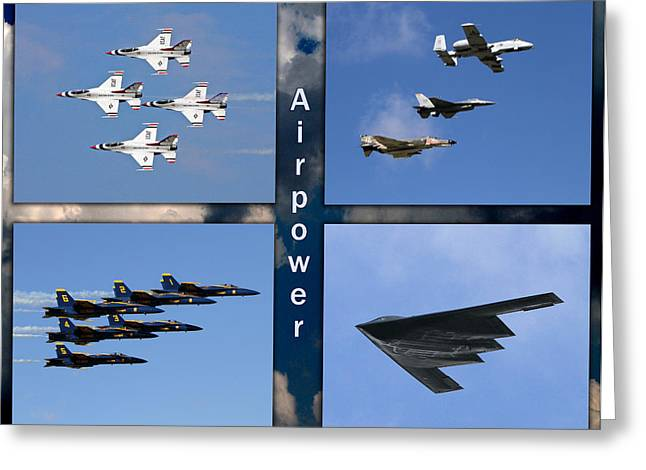 Air Power Greeting Card
