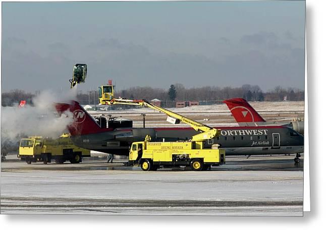 Airplane De-icing Greeting Card