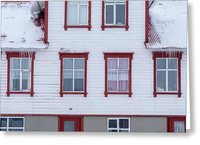 Akureyri During Winter Greeting Card by Martin Zwick