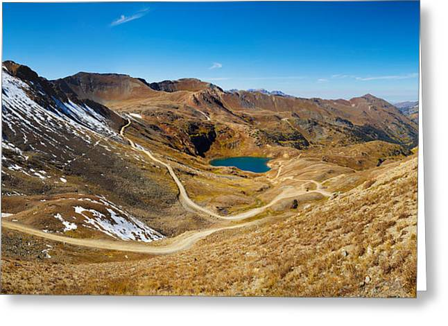 Alaska Basin And Como Lake Surrounded Greeting Card