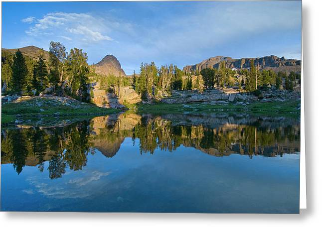 Alaska Basin Pothole Lake, Teton Greeting Card
