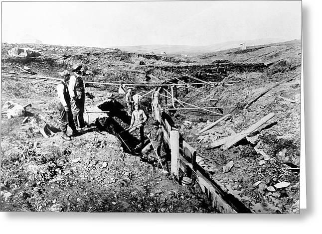 Alaska Gold Miners, C1897 Greeting Card