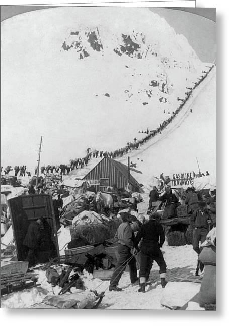 Alaska Miners, C1898 Greeting Card