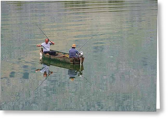 Albania. Lake Shkodra Greeting Card by Ken Welsh