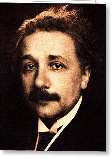 Albert Einstein Greeting Card by American Philosophical Society