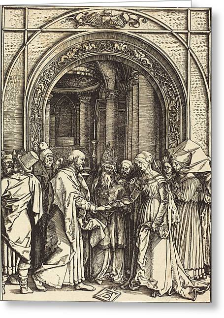 Albrecht Dürer German, 1471 - 1528, The Betrothal Greeting Card
