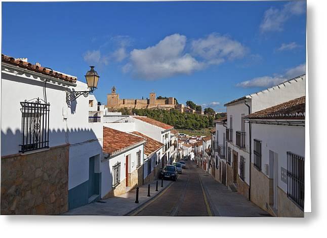 Alcazaba Castle In Antequera, Malaga Greeting Card
