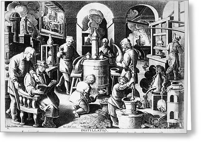 Alchemy: Laboratory Greeting Card by Granger