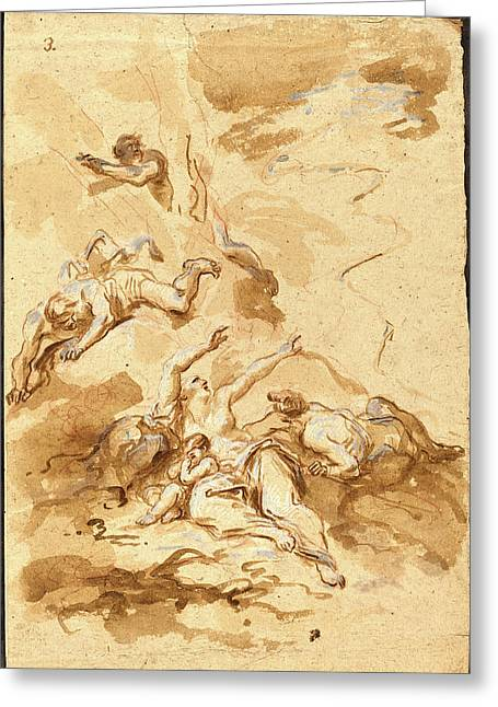 Alessandro Magnasco, Italian 1667-1749 Greeting Card by Litz Collection