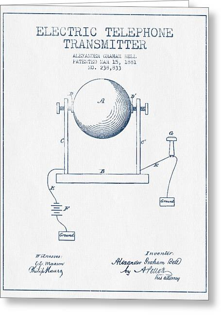 Alexander graham bell greeting cards fine art america alexander graham bell electric telephone transmitter patent from greeting card m4hsunfo