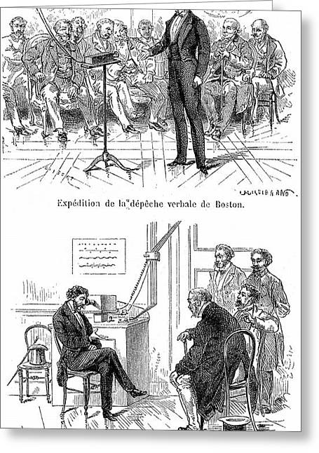 Alexander Graham Bell Greeting Card by Universal History Archive/uig
