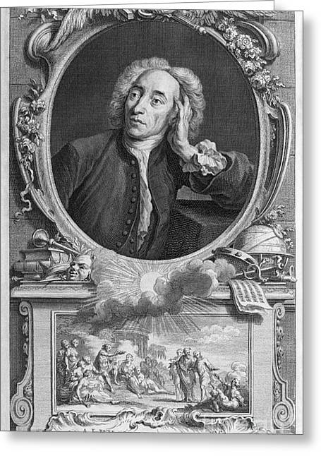Alexander Pope, English Poet Greeting Card by Middle Temple Library